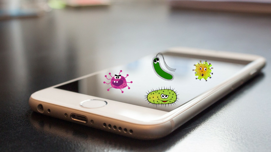 Your phones contains germs that can harm you.